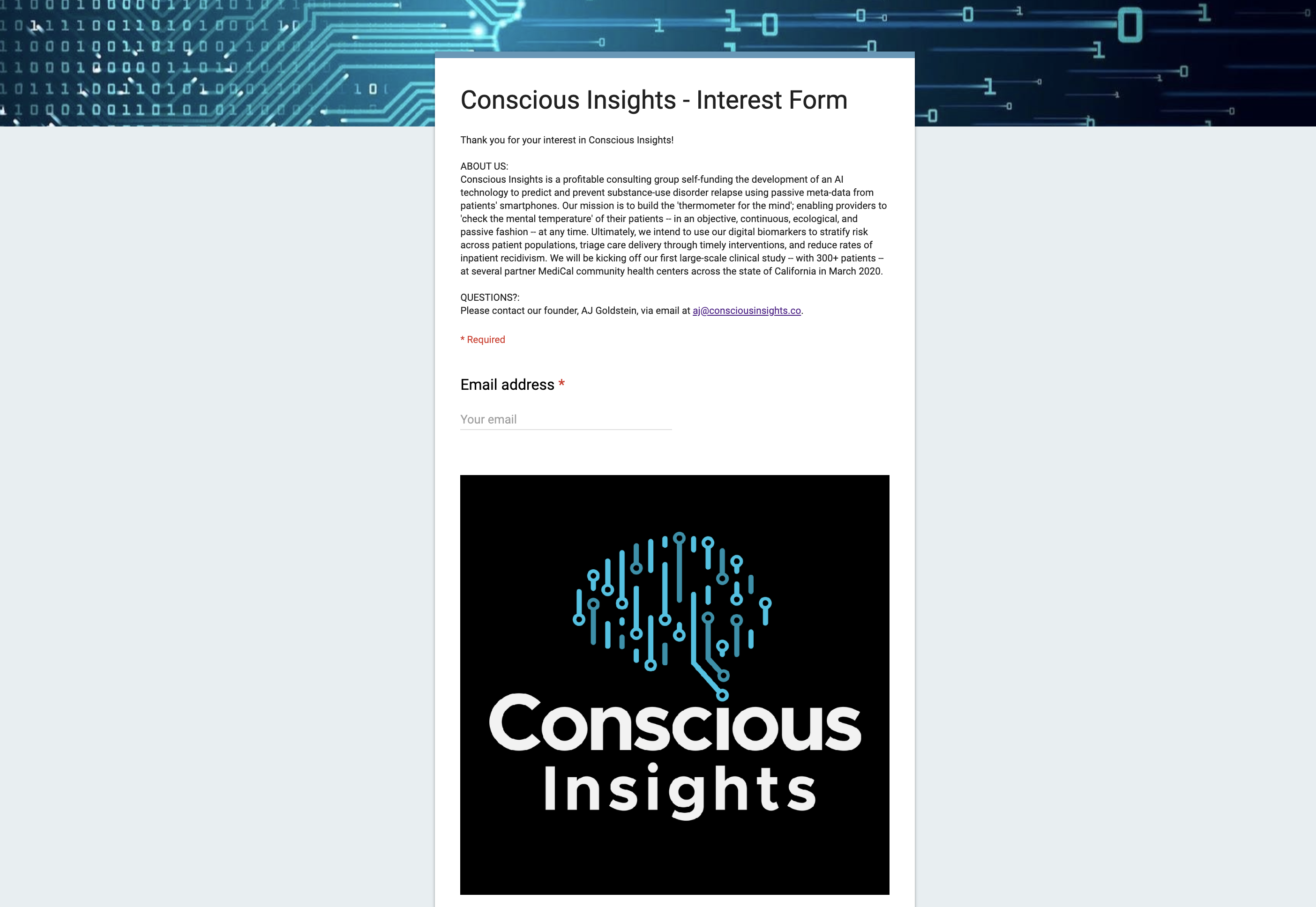 Conscious Insights - Interest Form